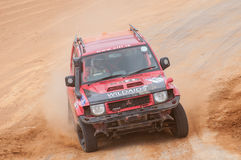 Speeding racing 4X4 in srilanka Royalty Free Stock Image