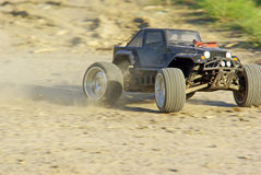 Speeding radio controlled car Royalty Free Stock Photography