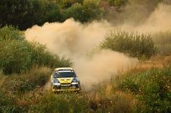 Speeding rally car Royalty Free Stock Photo