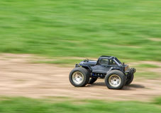 Speeding RC car Stock Photo