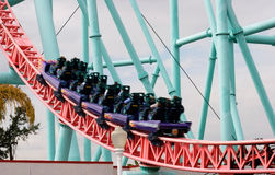 Speeding Roller coaster Stock Photography