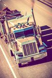 Speeding Semi Truck Royalty Free Stock Image