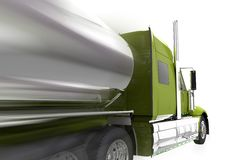 Speeding Semi Truck Isolated Stock Image