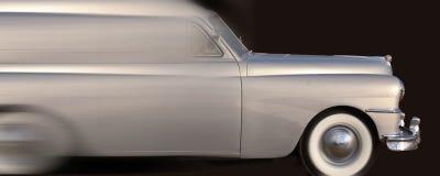 Speeding Silver Car Royalty Free Stock Photos