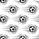 Speeding soccer ball seamless pattern Royalty Free Stock Photo