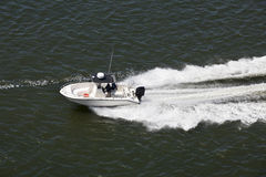 Speeding Sport Fishing Boat Royalty Free Stock Photos