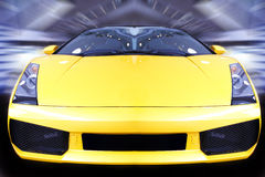 Speeding sports car Stock Image