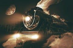 Speeding Steam Locomotive Stock Photography