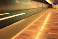 Speeding subway Stock Photography