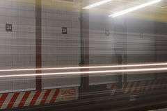 Speeding Subway Car Stock Photo