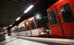 Speeding subway Stock Photo