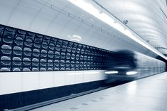Speeding Subway Train Royalty Free Stock Photo