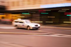 Speeding Taxi Royalty Free Stock Photo