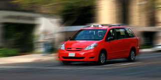 Speeding taxicab Royalty Free Stock Photography