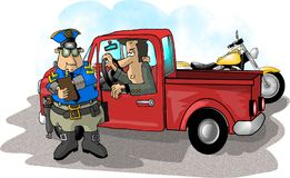 Speeding Ticket vector illustration