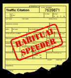 Speeding ticket Stock Image