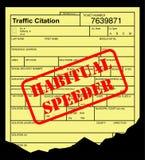 Speeding ticket Stock Image