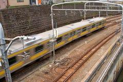 Speeding Tokyo Train Stock Image