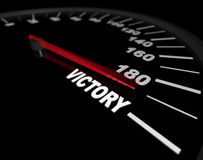 Speeding Toward Victory - Speedometer Stock Image