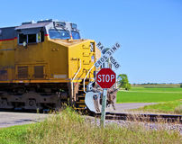 Speeding train Stock Image