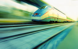 Speeding train royalty free stock photo