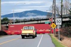 Free Speeding Train At Crossing Stock Photography - 50017352