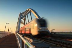 Speeding train Stock Images