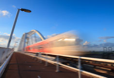Speeding train Royalty Free Stock Image