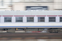 Speeding Train, Warsaw, Poland. Stock Image
