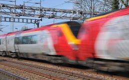 speeding trains voyager стоковое фото rf