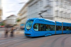 Speeding tram Royalty Free Stock Image