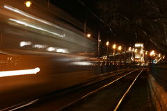 Speeding tram Stock Photography