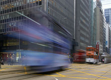 Speeding Tram Royalty Free Stock Photography