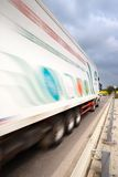 Speeding truck Stock Photography
