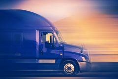 Speeding Truck Concept Royalty Free Stock Photo