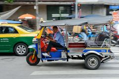 Speeding Tuk Tuk in Bangkok Stock Image