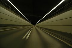 Speeding in tunnel Stock Image