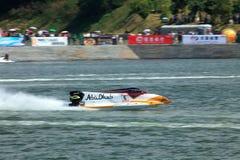 Speeding Up. United Arab Emirates Ahmed Al Hameli from Team Abu Dhabi was speeding up at GP of China Stock Photos