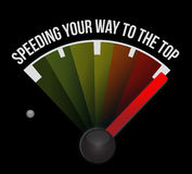 Speeding your way to the top concept speedometer. Illustration Royalty Free Stock Photo
