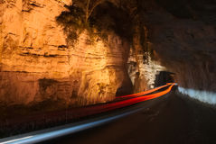 Speedlight in the canyon Royalty Free Stock Photo