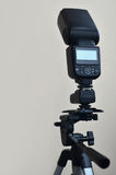Speedlight gun with trigger set mounted on tripod Stock Images