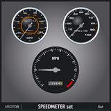 Speedmeter. Speed meter illustration vector set Stock Photography
