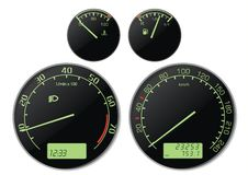 Speedmeter Stock Photo