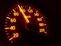 Speedmeter Arkivfoto
