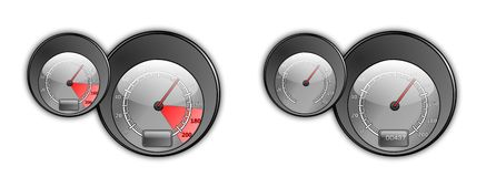 Speedmeter gauges Stock Photo