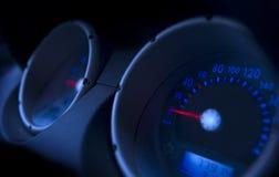 Speedmeter van de auto stock foto's