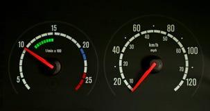 Speedo en tachometer stock foto's