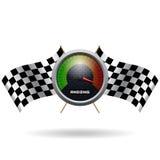 Speedo et drapeau croisé par deux Images stock