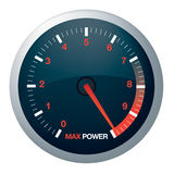 Speedo or speed dial. For car or power Royalty Free Stock Images