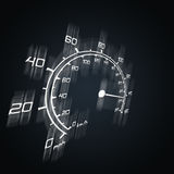 Speedometer. Illustration of blured spedometer in perspective Royalty Free Stock Photos